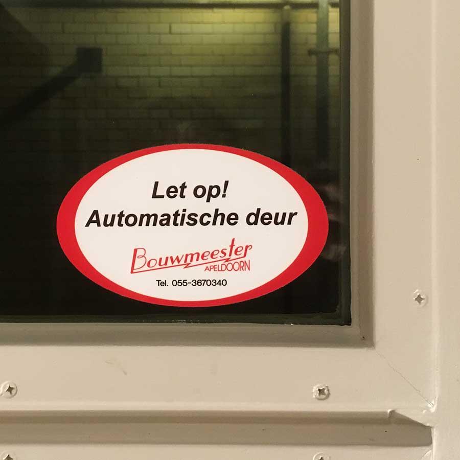 Sticker automatische deuren